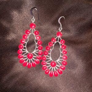 Jewelry - NEVER WORN RED EARRINGS